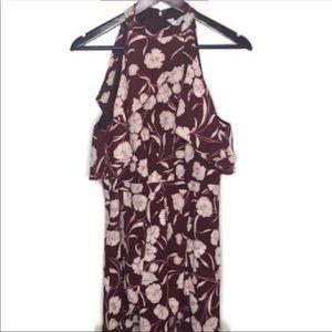 LC Lauren Conrad Runway Floral Midi Dress Sz12
